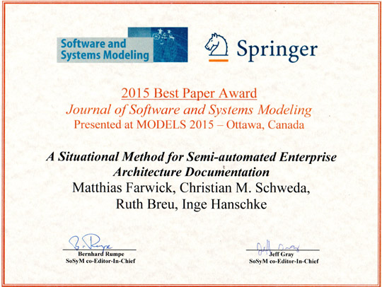 BestPaperAward_2015_Models2015_Springer_10,15