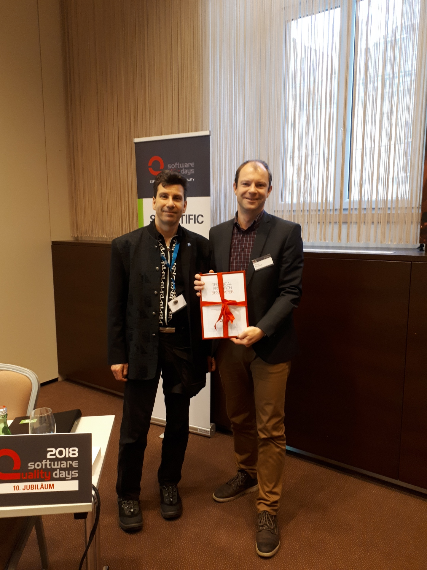 Best Paper Award at SWQD 2018