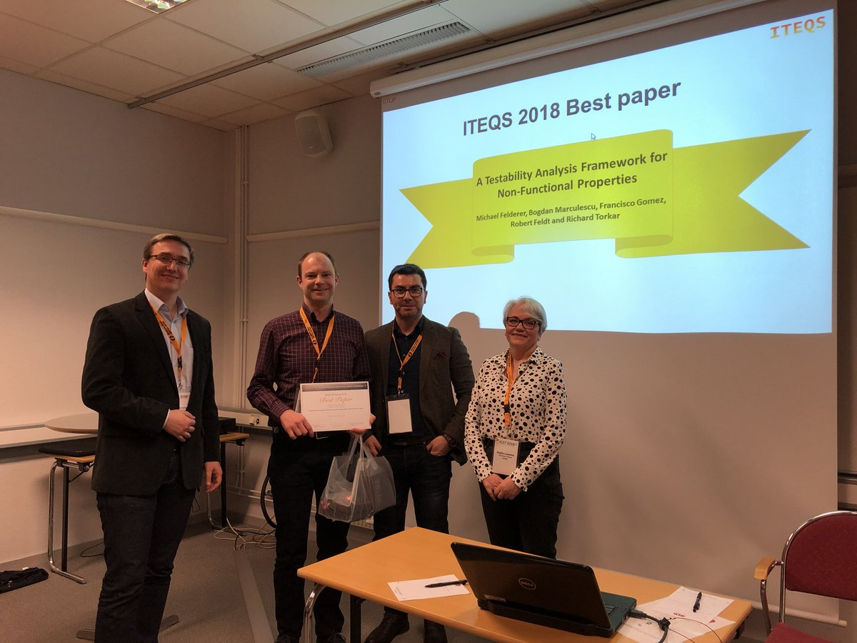 Best Paper Award at ITEQS 2018